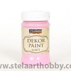 PENTART Боя  SOFT бебешко розов100мл -за декорация P25223