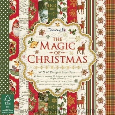 Дизайнерска хартия - The Magic of Christmas - 48 листа -15,2/15,2-DOVECRAFT