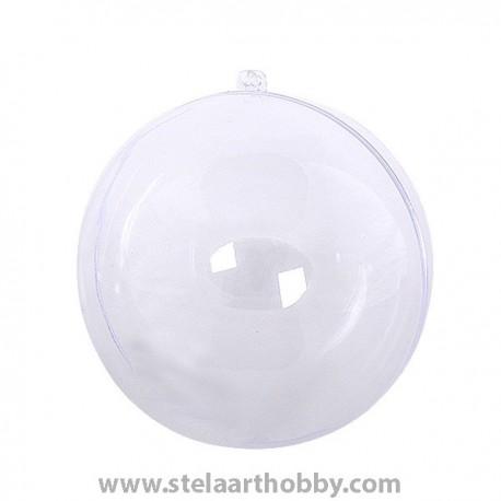 Топка от пластмаса- ф 160 mm, прозрачна за декорация
