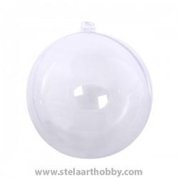 Топка от пластмаса, ф- 100 mm, прозрачна за декорация