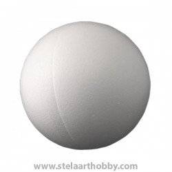 Топка от стиропор  бял ф -150 mm