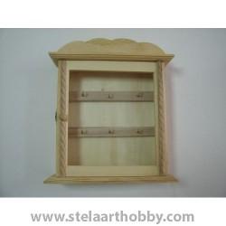 Дървена кутия за  ключове-3