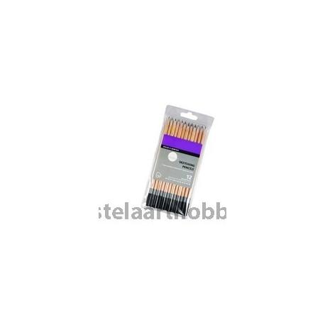 Daler Rowney комплект моливи Simply Sketch 12 цвята