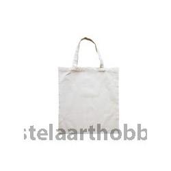 БЯЛ ТЕКСТИЛ  чанта къси дръжки 38/42 cm,