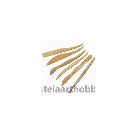 СТЕЛА АРТ инструменти за моделиране 6 бр, дървени