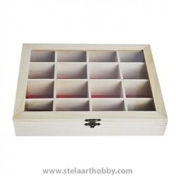 дървена кутия 16 разделения