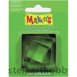 CUTTERS MAKINS - Метални форми за изрязване 3 бр КВАДРАТИ