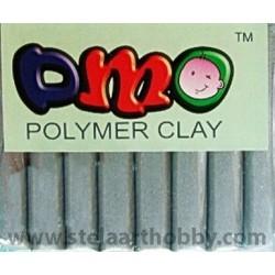 ОМО-Полимерна глина цвят СРЕБРО  50 гр.