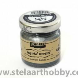 PENTART  Течна боя металик/течен варак 30мл - сребърен