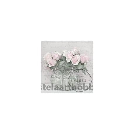 САЛФЕТКИ Sagen Vintage  33/33 cm, 20 бр, SVD038 РОЗИ