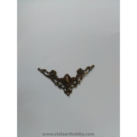 Ъгъл метален антик бронз 4бр 4.1/4.1см