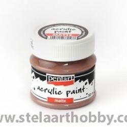 PENTART Акрилна боя мат 50мл - винтидж кафяв P20985